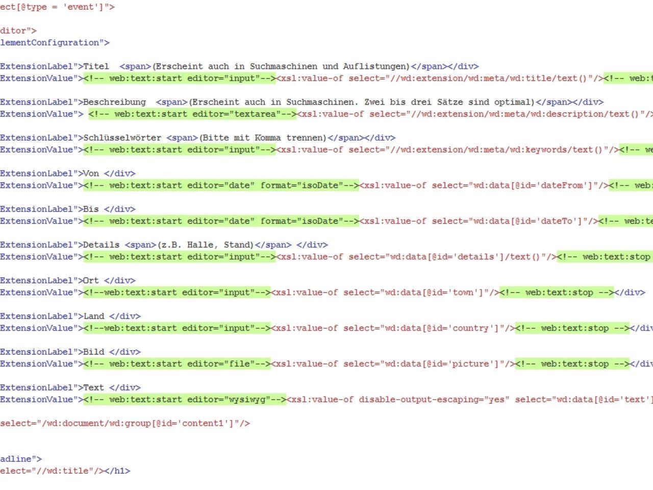 XML / XSLT / PHP: Alles anpassbar